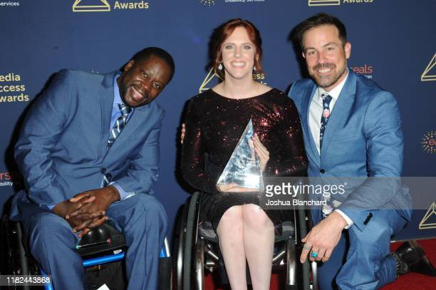 Daryl Mitchell, Katherin Beattie and Kurt Yaeger attend the 40th Annual Media Access Awards In Partnership With Easterseals at The Beverly Hilton...