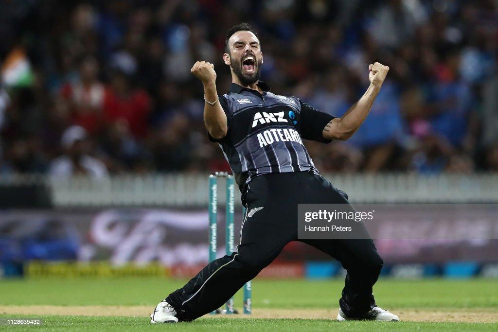 New Zealand v India - International T20 Game 3 : News Photo