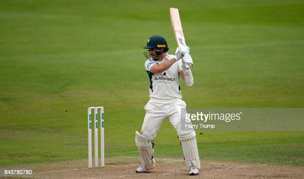 Daryl Mitchell of Worcestershire bats during Day Three of the Specsavers County Championship Division Two match between Nottinghamshire and...