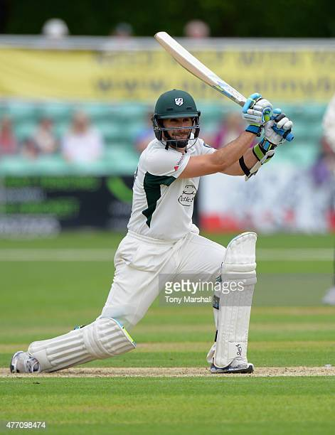 Daryl Mitchell of Worcestershire bats during the LV County Championship match between Worcestershire and Warwickshire at New Road on June 14 2015 in...