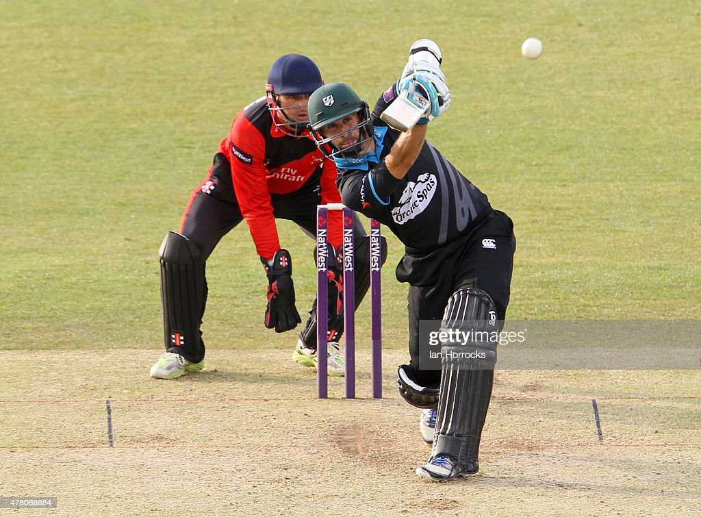 Daryl Mitchell of Worcestershire during the NatWest T20 Blast match between Durham Jets and Worcestershire Rapids at The Emirates Durham ICG on June 12, 2015 in Chester Le Street, England.