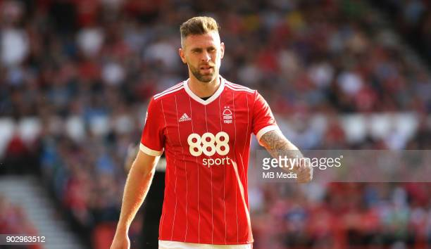Daryl Murphy cuts a frustrated figure during the first half of the EFL fixture between Nottingham Forest and Leeds United at The City Ground...