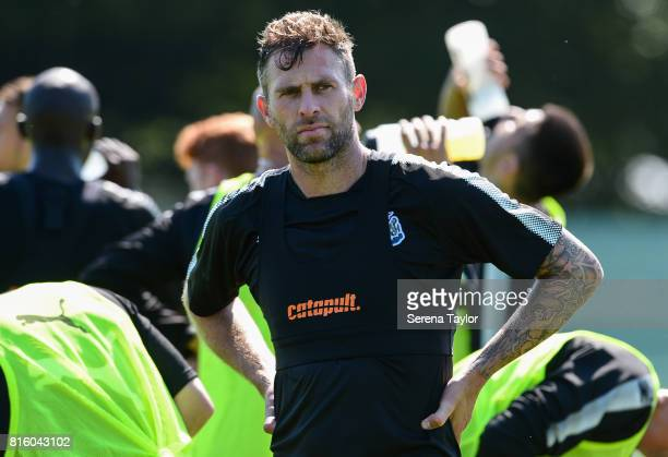 Daryl Murphy during the Newcastle United Training session at Carton House on July 17 in Maynooth Ireland