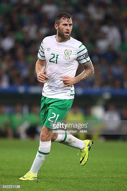 Daryl Murphy of Ireland in action during the UEFA EURO 2016 Group E match between Italy and Republic of Ireland at Stade PierreMauroy on June 22 2016...