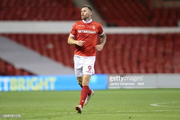 Daryl Murphy of Nottingham Forest during the Carabao Cup Second Round match between Nottingham Forest and Newcastle United at City Ground on August...