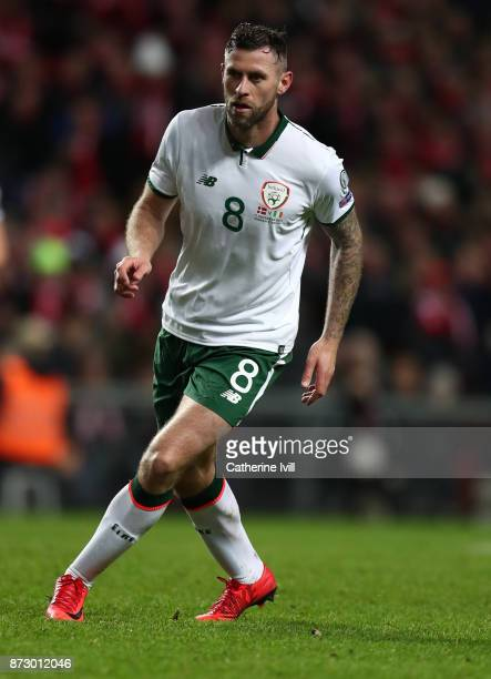 Daryl Murphy of Republic of Ireland during the FIFA 2018 World Cup Qualifier PlayOff First Leg between Denmark and Republic of Ireland at Telia...