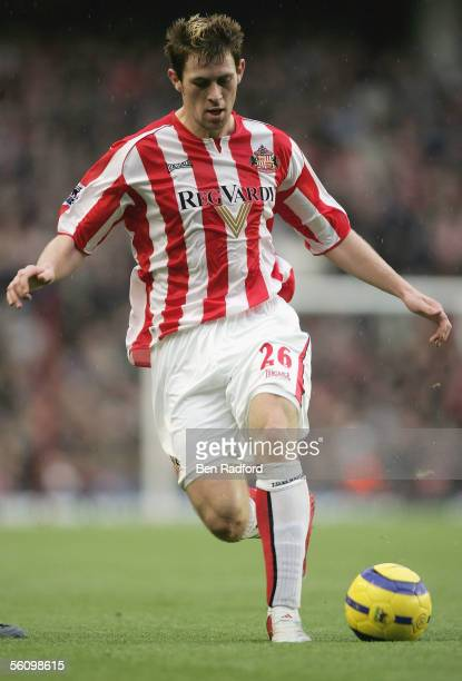 Daryl Murphy of Sunderland in action during the Barclays Premiership match between Arsenal and Sunderland at Highbury on November 5, 2005 in London,...