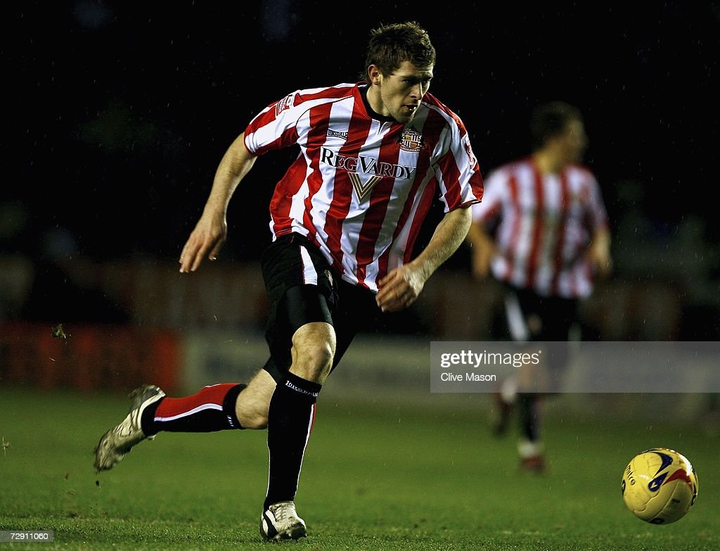 Daryl Murphy of Sunderland in action during the Coca Cola Championship match between Leicester City and Sunderland at the Walkers Stadium on January 1, 2007, in Leicester, England
