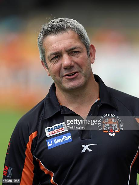 Daryl Powell Head Coach of Castleford Tigers during the First Utility Super League match between Castleford Tigers and Widnes Vikings at The Jungle...