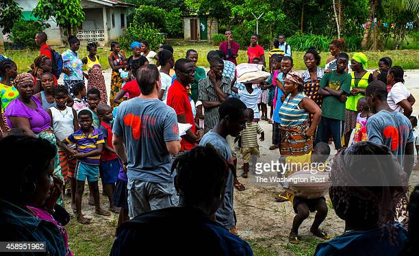 LIBERIANOVEMBER 5 Daryl Roberts director of Orphan Aid Liberia organizes a food and supplies donation for families affected by Ebola on Friday...