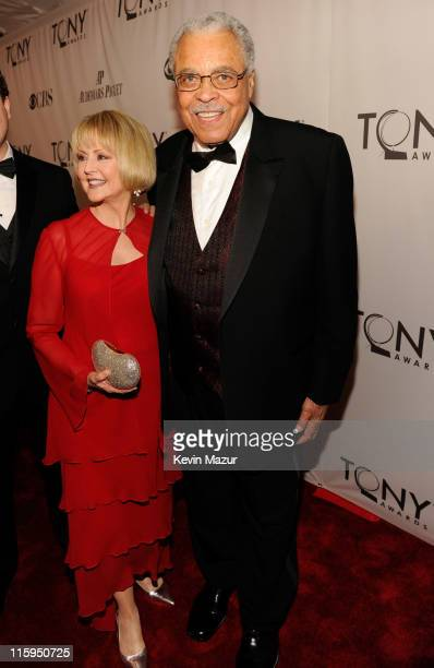 Daryl Roth and James Earl Jones attend the 65th Annual Tony Awards at the Beacon Theatre on June 12 2011 in New York City