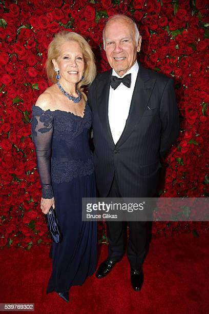 Daryl Roth and Steven Roth attend the 70th Annual Tony Awards Arrivals at Beacon Theatre on June 12 2016 in New York City
