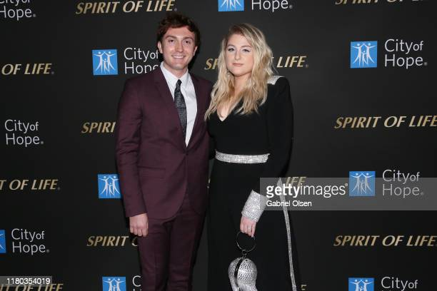 Daryl Sabara and Meghan Trainor arrive for City Of Hope's Spirit Of Life 2019 Gala at The Barker Hanger on October 10 2019 in Santa Monica California