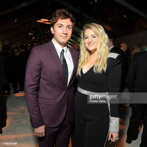Daryl Sabara and Meghan Trainor attend City Of Hope Spirit Of Life Gala 2019 on October 10 2019 in Santa Monica California