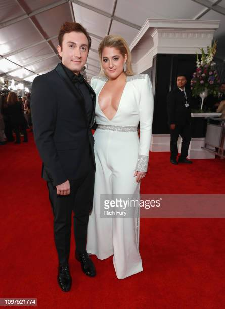 Daryl Sabara and Meghan Trainor attend the 61st Annual GRAMMY Awards at Staples Center on February 10 2019 in Los Angeles California