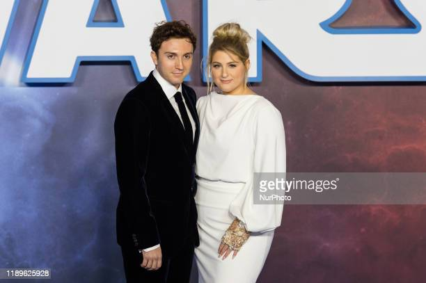 Daryl Sabara and Meghan Trainor attend the European film premiere of 'Star Wars The Rise of Skywalker' at Cineworld Leicester Square on 18 December...