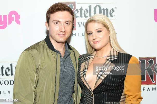 Daryl Sabara and Meghan Trainor attend the Ketel One FamilyMade Vodka Celebrates Queer Eye Cast At PreEmmy Party at Kimpton La Peer Hotel on...