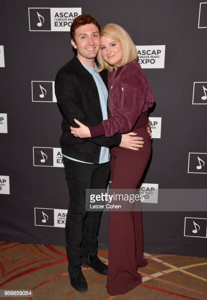 Daryl Sabara and Meghan Trainor attend the 'Watch Them Do A Conversation with Meghan Trainor and J Kash' panel during The 2018 ASCAP 'I Create Music'...