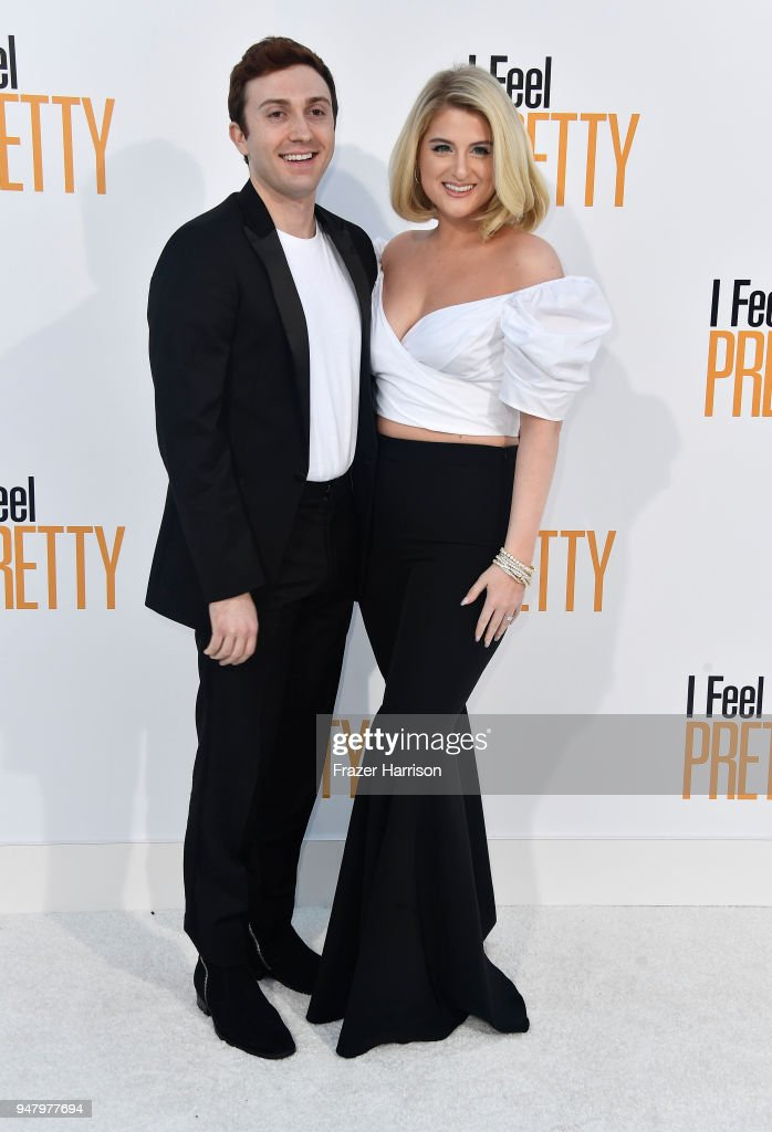 Daryl Sabara and Meghan Trainor atttend the Premiere of STX Films' 'I Feel Pretty' at Westwood Village Theatre on April 17, 2018 in Westwood, California.