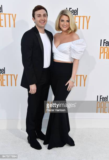 Daryl Sabara and Meghan Trainor atttend the Premiere of STX Films' 'I Feel Pretty' at Westwood Village Theatre on April 17 2018 in Westwood California