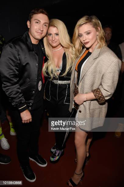 Daryl Sabara Meghan Trainor and Chloe Grace Moretz attend FOX's Teen Choice Awards at The Forum on August 12 2018 in Inglewood California