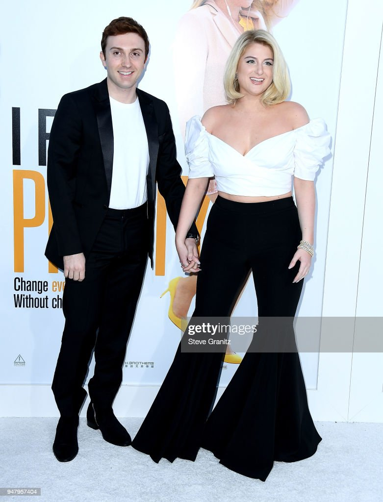 Daryl Sabara;Meghan Trainor arrives at the Premiere Of STX Films' 'I Feel Pretty' at Westwood Village Theatre on April 17, 2018 in Westwood, California.