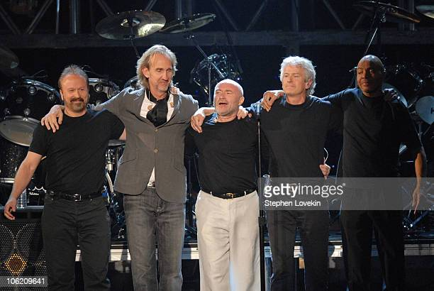 Daryl Steurmer Mike Rutherford Phil Collins Tony Banks and Chester Thompson of Genesis