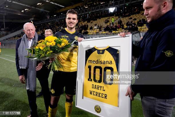Daryl Werker of Roda JC homage of 100 matches for Roda JC during the Dutch Keuken Kampioen Divisie match between Roda JC v SC Cambuur at the Parkstad...