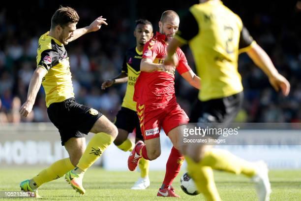 Daryl Werker of Roda JC Istvan Bakx of Go Ahead Eagles during the Dutch Keuken Kampioen Divisie match between Go Ahead Eagles v Roda JC at the De...