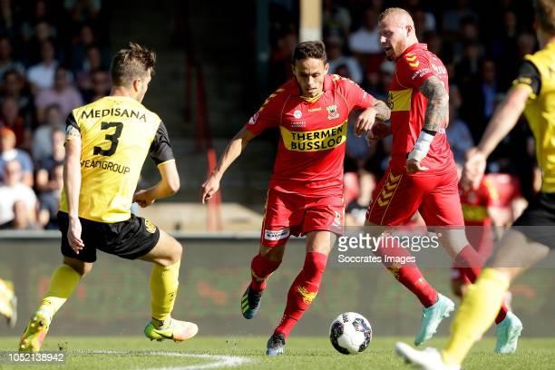 Daryl Werker of Roda JC Jaroslav Navratil of Go Ahead Eagles Thomas Verheydt of Go Ahead Eagles during the Dutch Keuken Kampioen Divisie match...