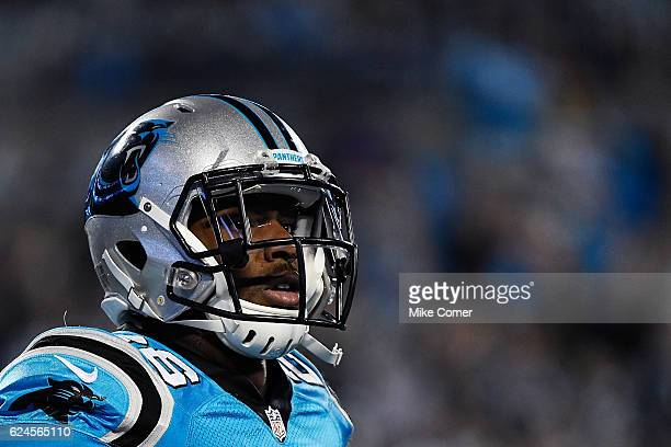Daryl Worley of the Carolina Panthers gazes into the stands during a game against the New Orleans Saints at Bank of America Stadium on November 17...