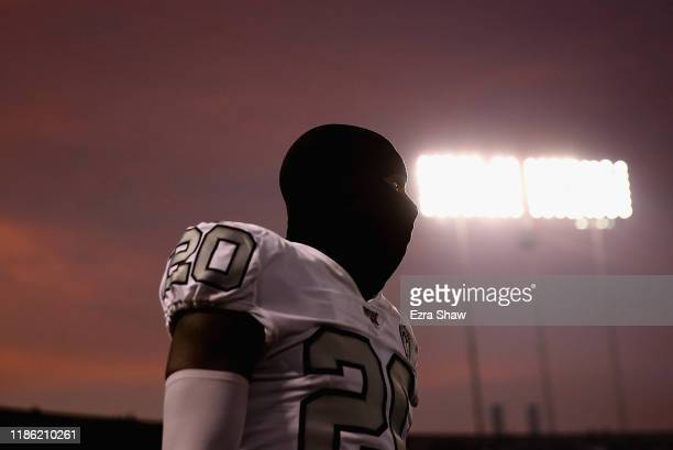 Daryl Worley of the Oakland Raiders walks on the field before the game against the Los Angeles Chargers at RingCentral Coliseum on November 07 2019...