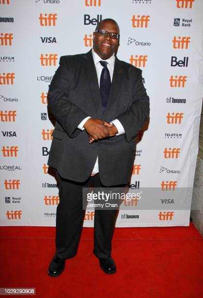 Daryle Lamont Jenkins attends the 'Skin' premiere during 2018 Toronto International Film Festival at Winter Garden Theatre on September 8 2018 in...