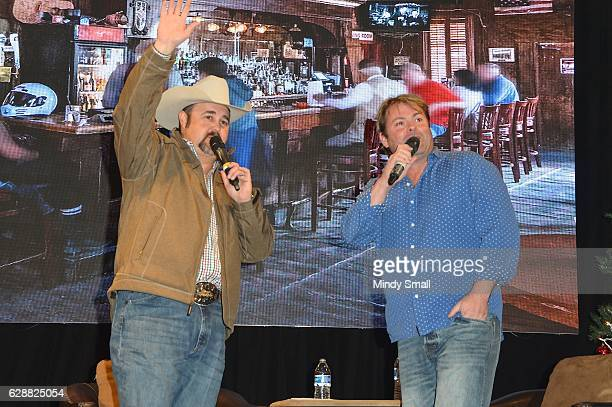 Daryle Singletary interviews singer Andy Griggs during the Keepin' it Country with Daryle Singletary show during the National Finals Rodeo's Cowboy...