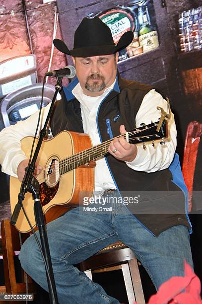 Daryle Singletary performs during the Keepin' it Country with Daryle Singletary show during the National Finals Rodeo's Cowboy Christmas at the Las...