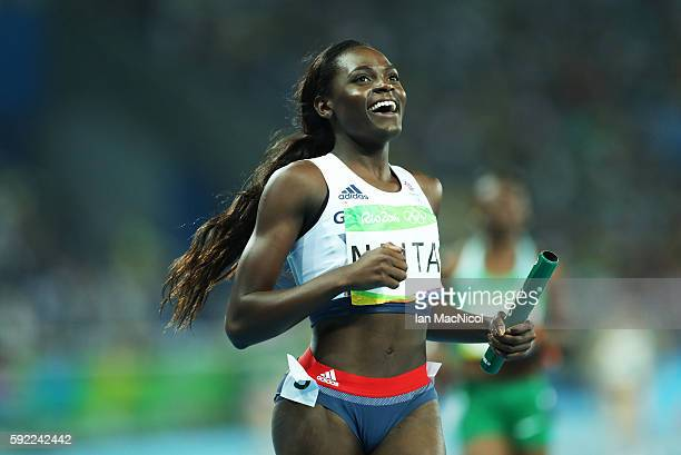 Daryll Neita anchors Great Britain to Bronze in the Women's 4 x 100m Final on Day 14 of the Rio 2016 Olympic Games at the Olympic Stadium on August...