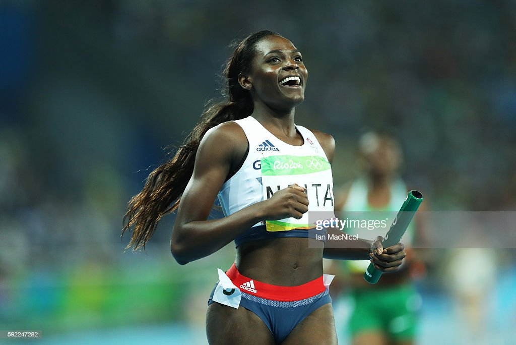 Daryll Neita anchors Great Britain to Bronze in the Women's 4 x 100m Final on Day 14 of the Rio 2016 Olympic Games at the Olympic Stadium on August 19, 2016 in Rio de Janeiro, Brazil.