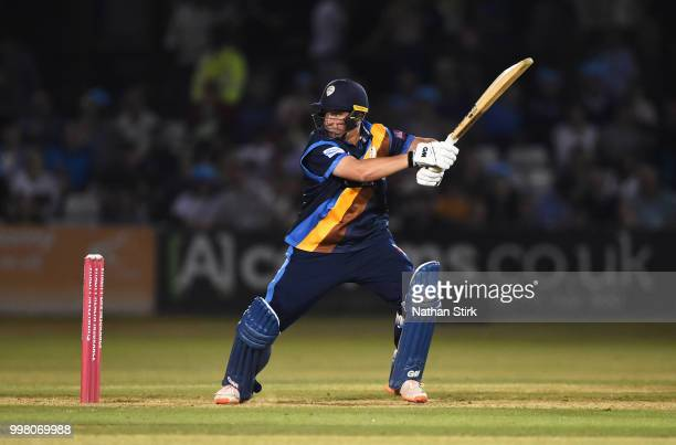 Daryn Smit of Derbyshire batting during the Vitality Blast match between Derbyshire Falcons and Notts Outlaws at The 3aaa County Ground on July 13...