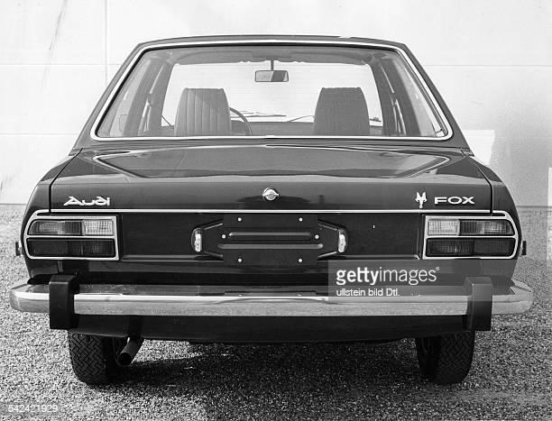 Das Audi-80-Modell für den USA-Export mitder bezeichnung 'Fox'.Mai 1973