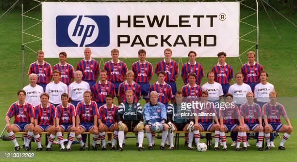 Das Aufgebot des deutschen Rekordmeisters FC Bayern München für die BundesligaSaison 1996/97 Hinten vl Thomas Helmer Oliver Kreuzer Carsten Jancker...