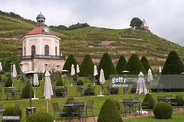 Das Belvedere des Schlosses Wackerbarth. Schloss Wackerbarth oder auch Wackerbarths Ruh' ist ein von Weinbergen umgebenes Barockschloss im Radebeuler...
