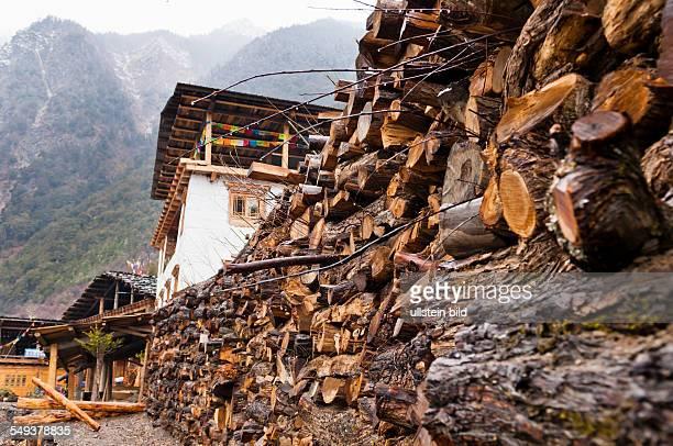das Dorf Yubeng im Naturreservat Meili Xue Shan