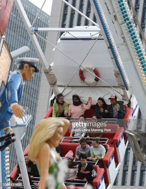 Das Fun Schiff one of the rides at the AIA Great European Festival in Central 15DEC16 SCMP / May Tse [2016 FEATURES]