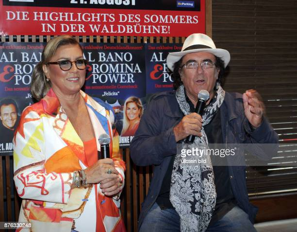 Das Gesangsduo Albano und Romina Power aufgenommen bei einem Pressetermin im Amano Hotel in Berlin Mitte Die beiden geben am 21 August ein Konzert in...