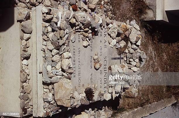 Das Grab von Oskar Schindler auf dem, Zions - Berg in Jerusalem, - 00.02.1996