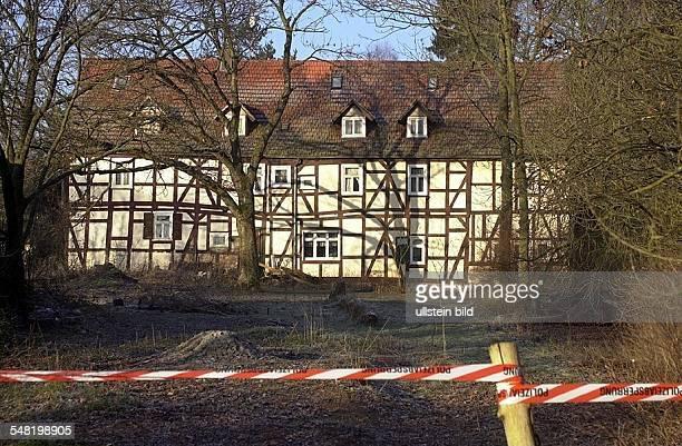 Das Haus des Tatverdächtigen Armin Meiwes in Rotenburg - Hessen. Der Computertechniker Armin M. Hat über das Internet Kontakt zu dem Berliner Bernd...