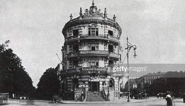 das Hotel und Restaurant `Hippodrom` amKnie inCharlottenburg 1899 als akademischeBierhallen eingerichtetlinks vom Hippodrom die Berliner Strasse...