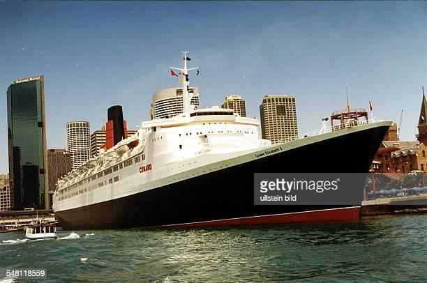 Das Kreuzfahrtschiff im Hafen von Sydney 1996