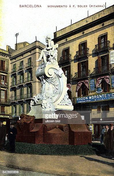 das Monumento a F Soler Colorierte Postkarte ohne Jahr