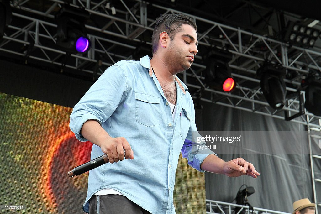 Das Racist performs during the 2011 Governors Ball music festival on Governors Island on June 18, 2011 in New York City.